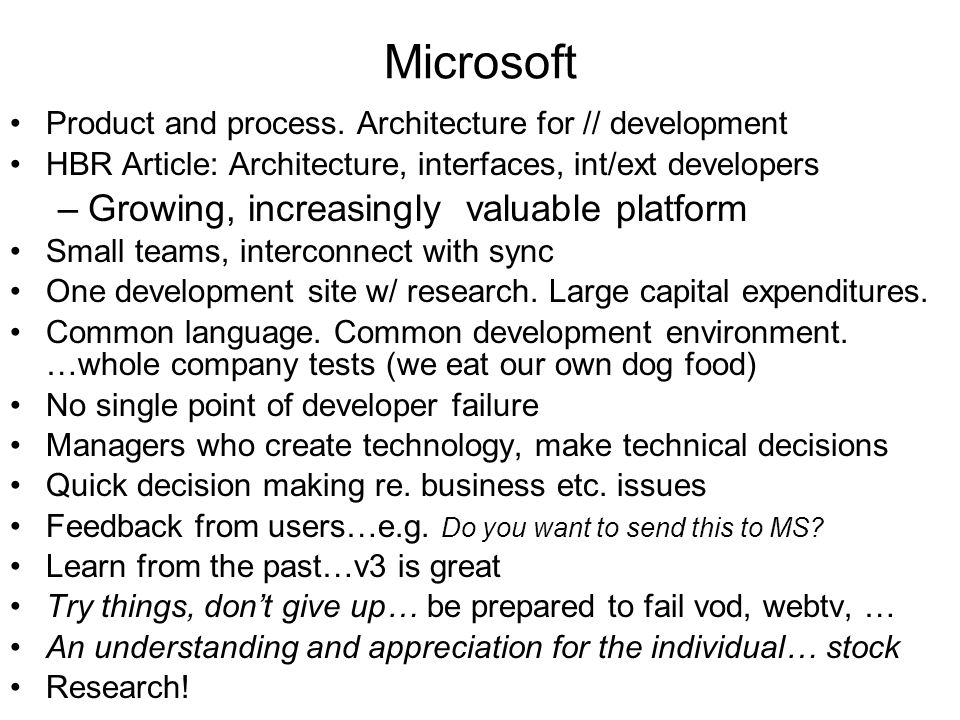 Microsoft Product and process.