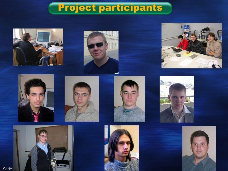 Slide 26 Project participants