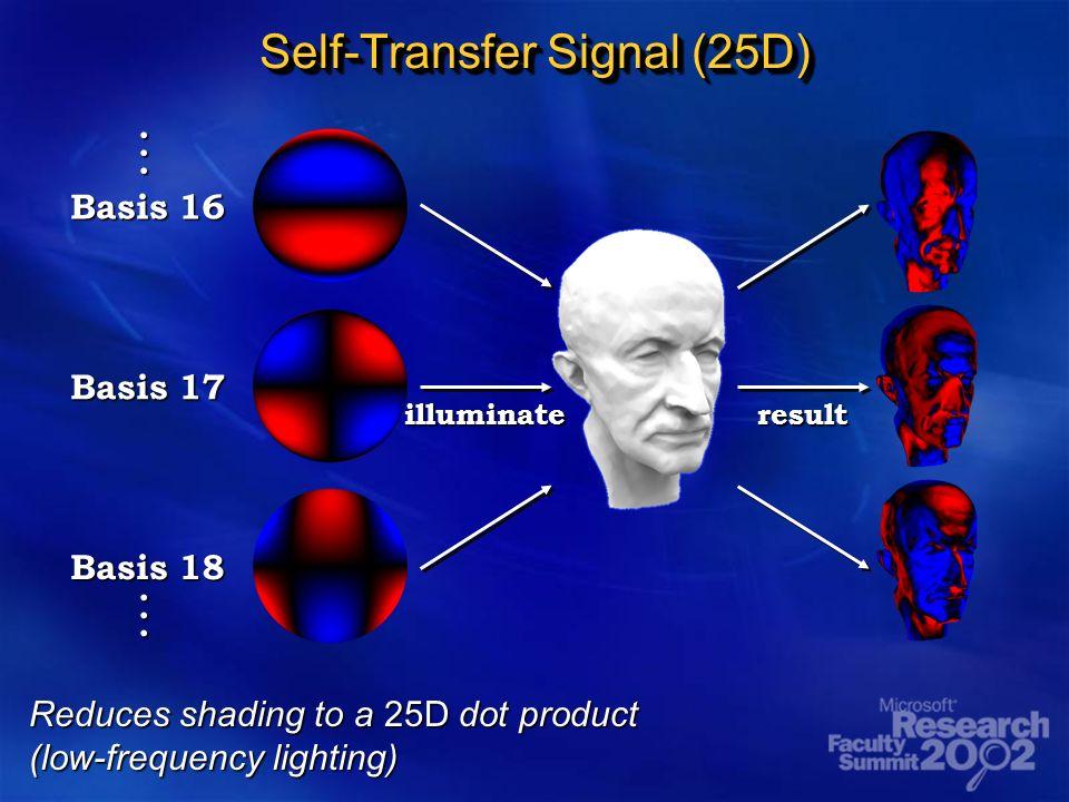 Self-Transfer Signal (25D) Basis 16 Basis 17 Basis 18 illuminateresult......