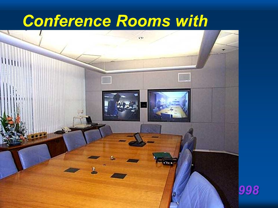 NUPC 1998 Telepresence hold a meeting of type, m university or technical course interview, staff meeting, co-ordination, board meeting, annual meeting, town hall, with p, distributed persons with as much interactivity and feeling such that people prefer being telepresent meetings are provably more productive meetings will evolve to be asynchronous versus traditional synchronous