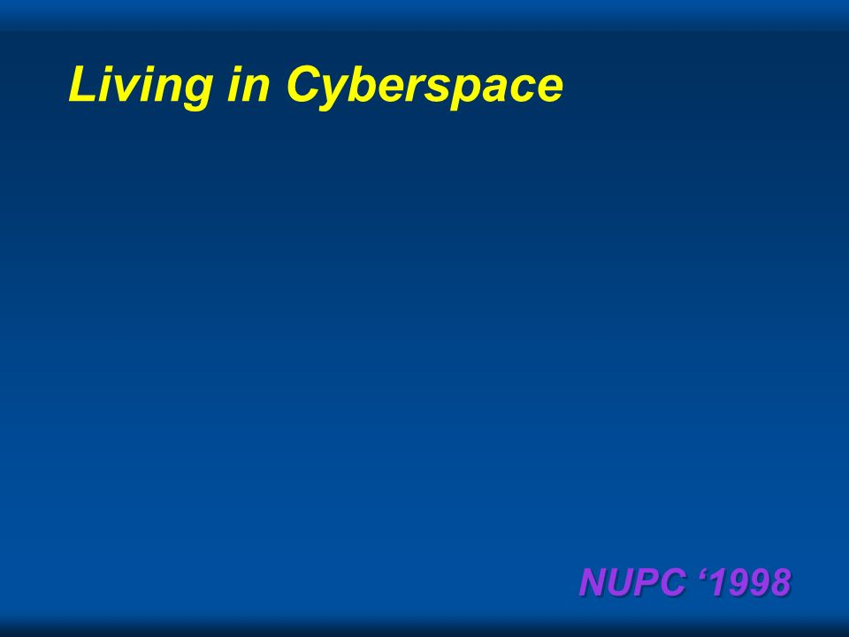 NUPC 1998 By April 1, 2001 videophones will ship in 50% of the PCs and be in use.