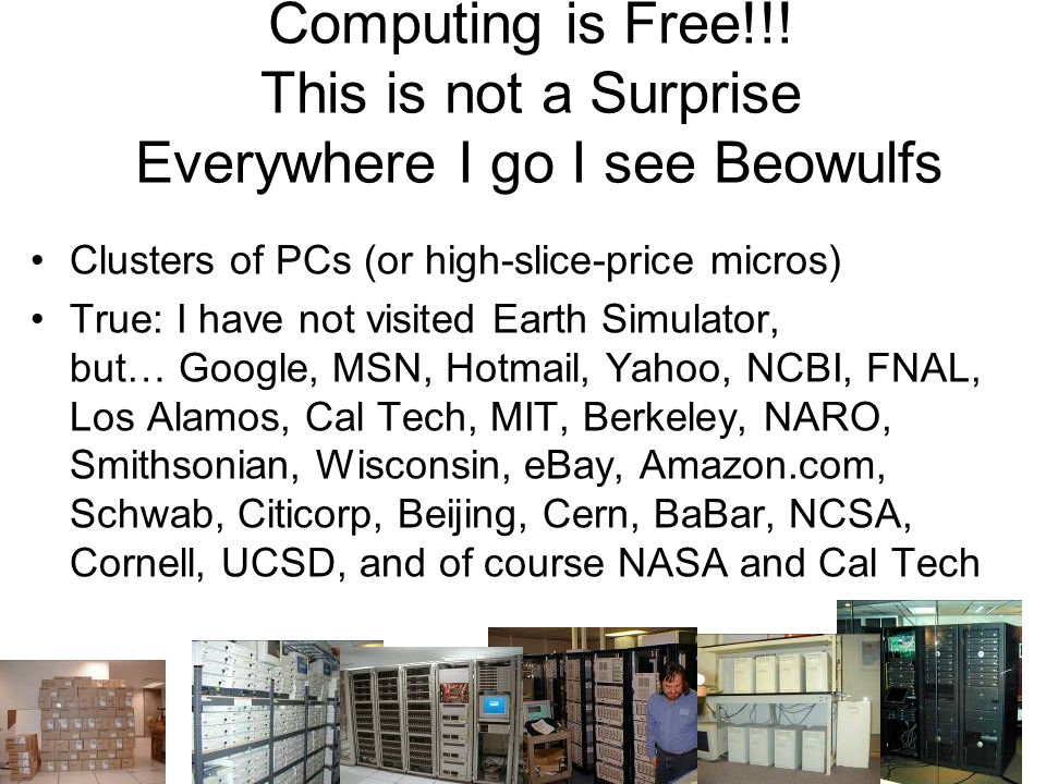 19 Two (?) Talks Distributed Computing Economics What Im doing –Online Science – World Wide Telescope –TerraServer Brick Design/Deploy/Operate –Paxos Commit –Spatial Data done relationally With Alex Szalay JHU With Tom Barclay With Leslie Lamport With Alex Szalay JHU