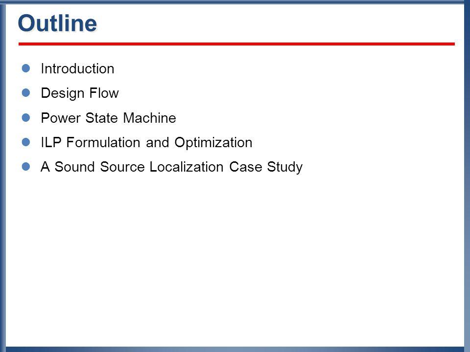 Scheduling Results (3) 200400 200400 200400 2004006008001000 2004006008001000 ARM7 7.5MHz MSP4 6MHz MSP3 6MHz MSP2 6MHz MSP1 6MHz 4xFFT HT SC 6008001000 6008001000 6008001000 SC Deadline: 1000ms Need 2 MSP430 ARM7 @ 7.5MHz Total energy/iteration: 16.2mJ Average power: 16.2mW
