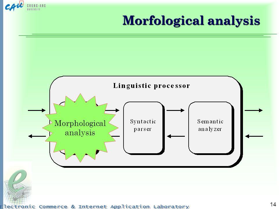 14 Morphological analysis Morfological analysis