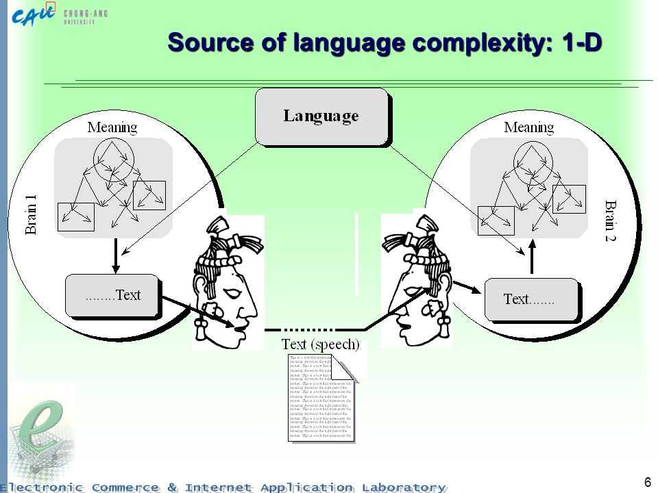 6 Source of language complexity: 1-D