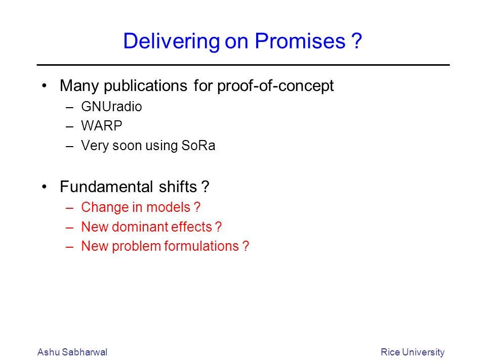 Delivering on Promises .