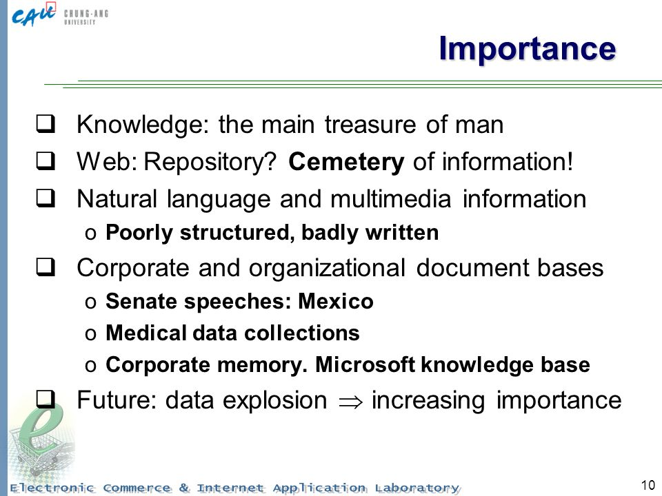10 Importance Knowledge: the main treasure of man Web: Repository.