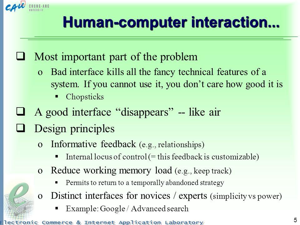 6...Human-computer interaction...Bad interfaces -- Why.