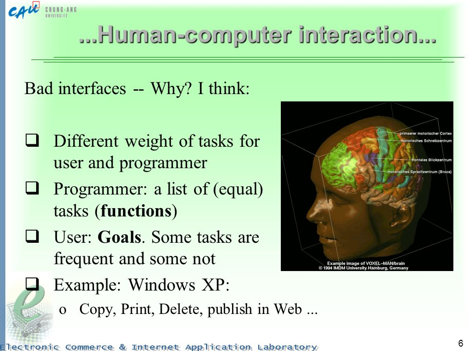 6...Human-computer interaction... Bad interfaces -- Why.