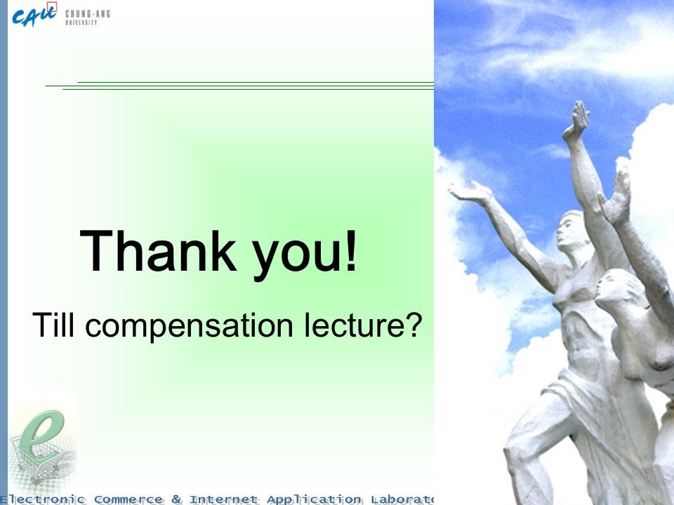 28 Thank you! Till compensation lecture
