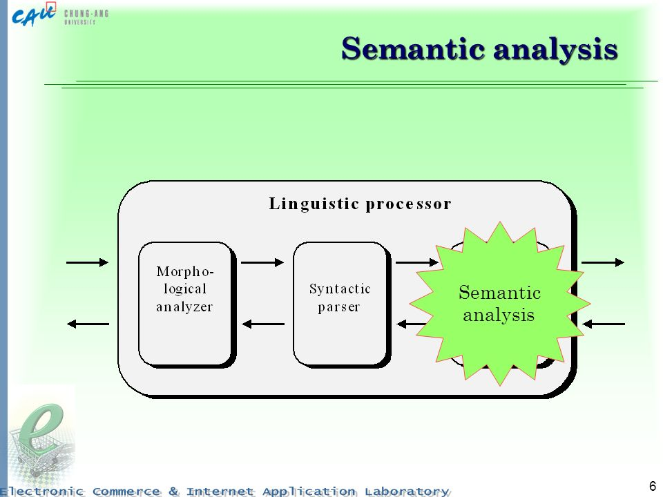 6 Semantic analysis