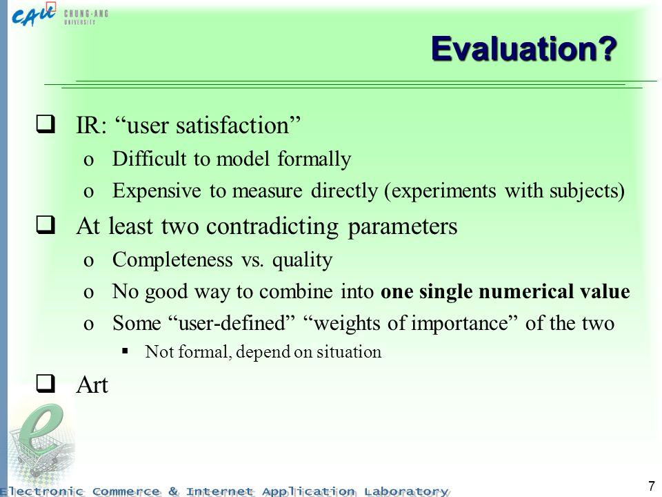 7 Evaluation.