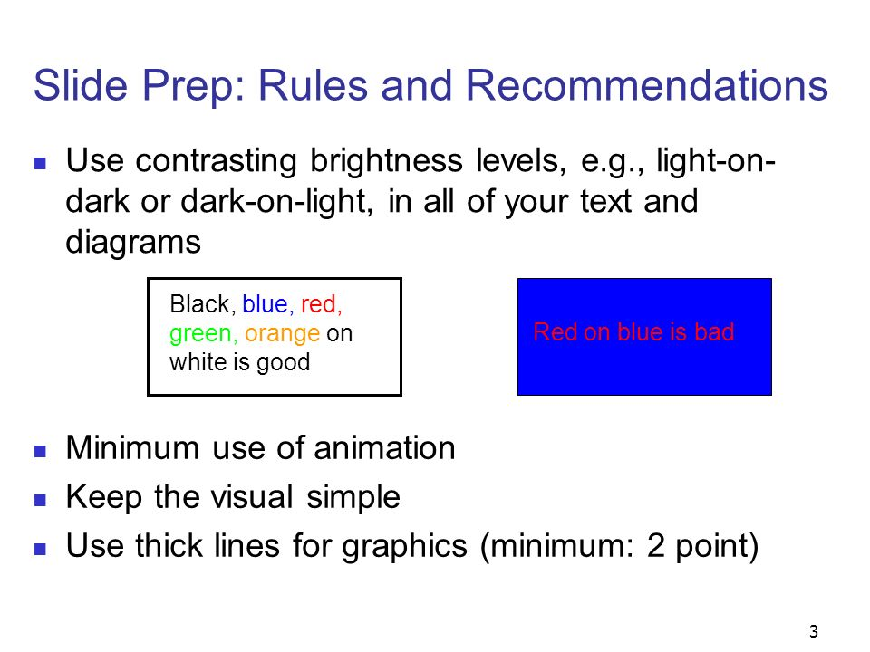 4 Slide Prep: Rules and Recommendations α × β I = x This is OK.