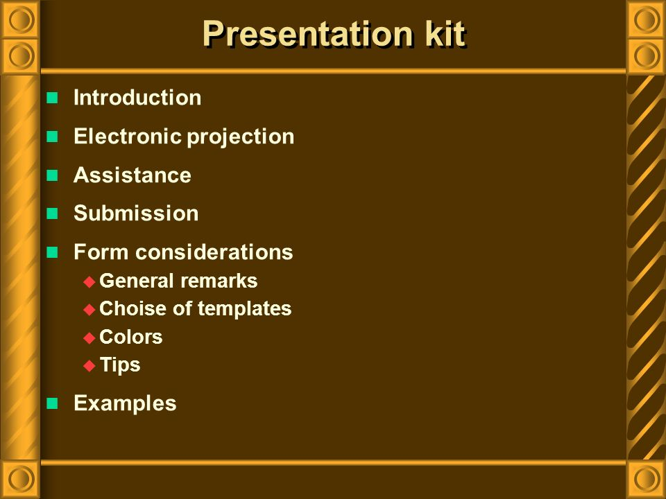 Introduction For more tips on how best to present your paper, carefully read the guidelines on slide preparation and presentation on this web site.