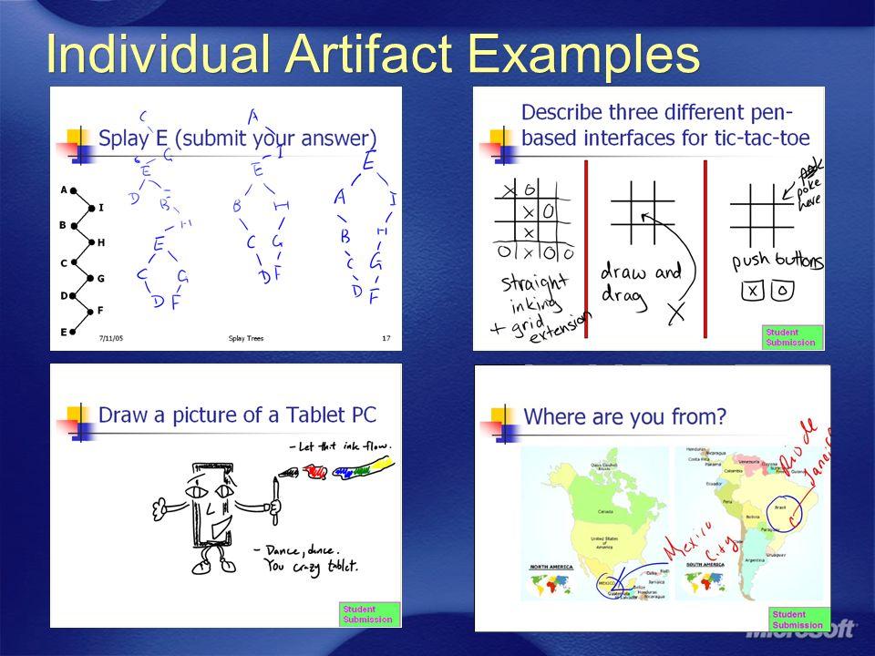 Individual Artifact Examples