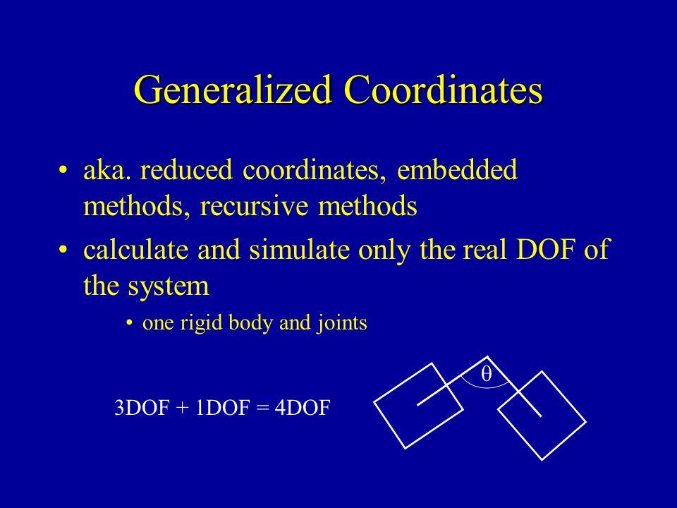 Generalized Coordinates aka.