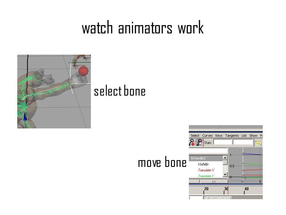 watch animators work select bone move bone