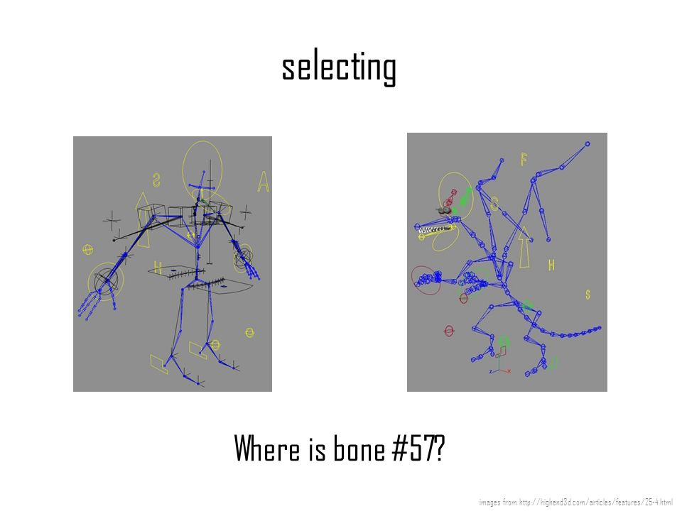 selecting Where is bone #57? images from http://highend3d.com/articles/features/25-4.html
