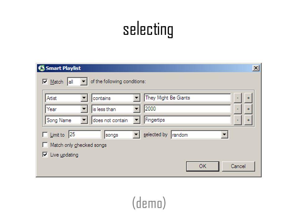 selecting (demo)