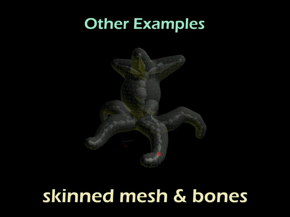 Other Examples skinned mesh & bones