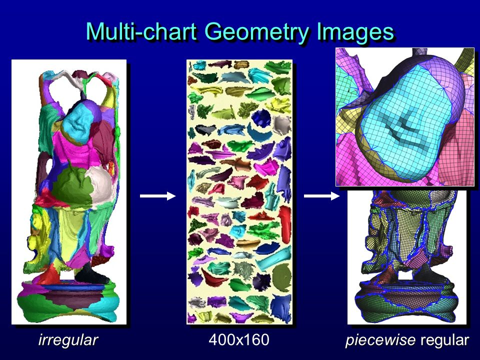 piecewise regular 400x160irregular Multi-chart Geometry Images