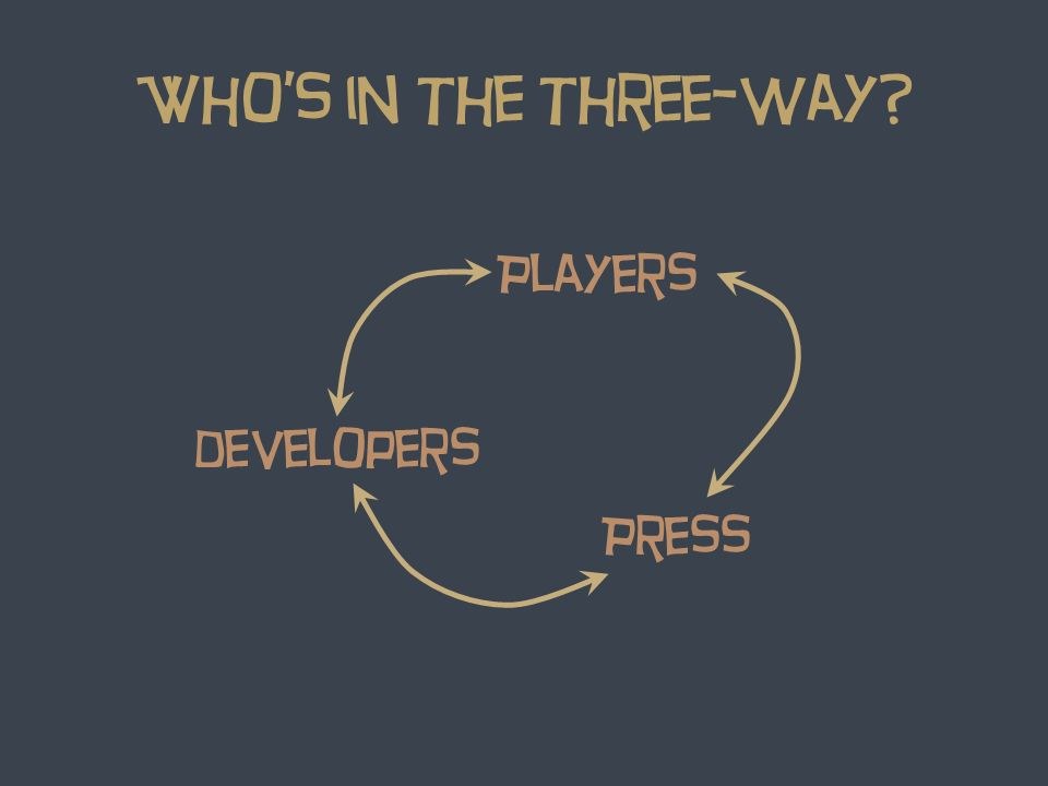 Whos in the three-way? Players developers Press