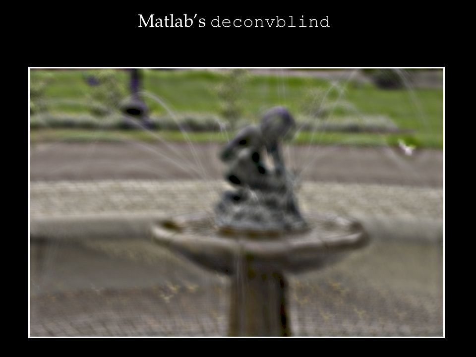 Matlabs deconvblind