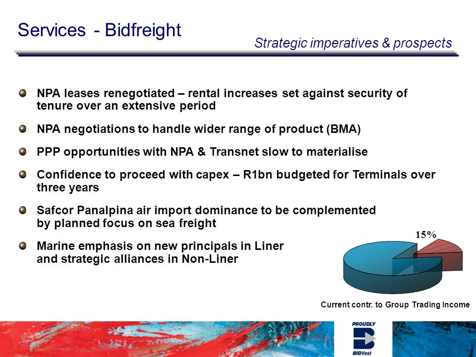 Services - Bidfreight Current contr.