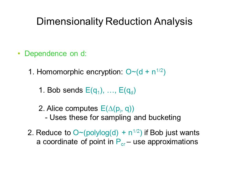 Dimensionality Reduction Analysis Dependence on d: 1.