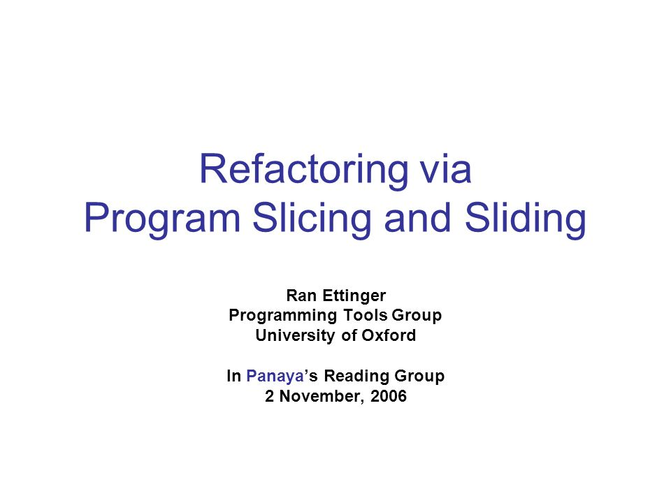 Sliding 1: statement-duplication