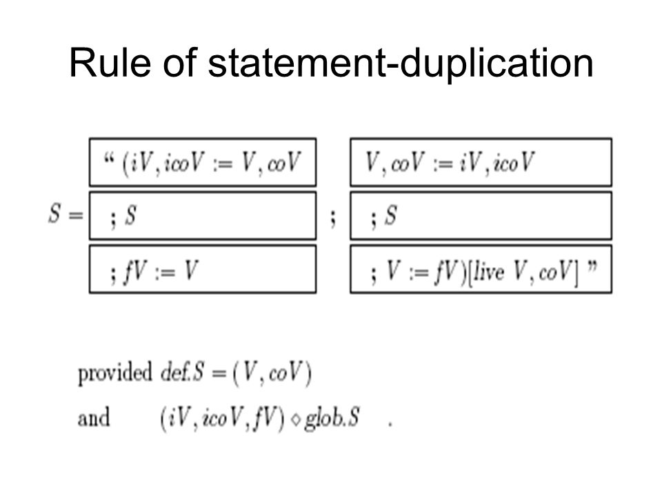 Rule of statement-duplication