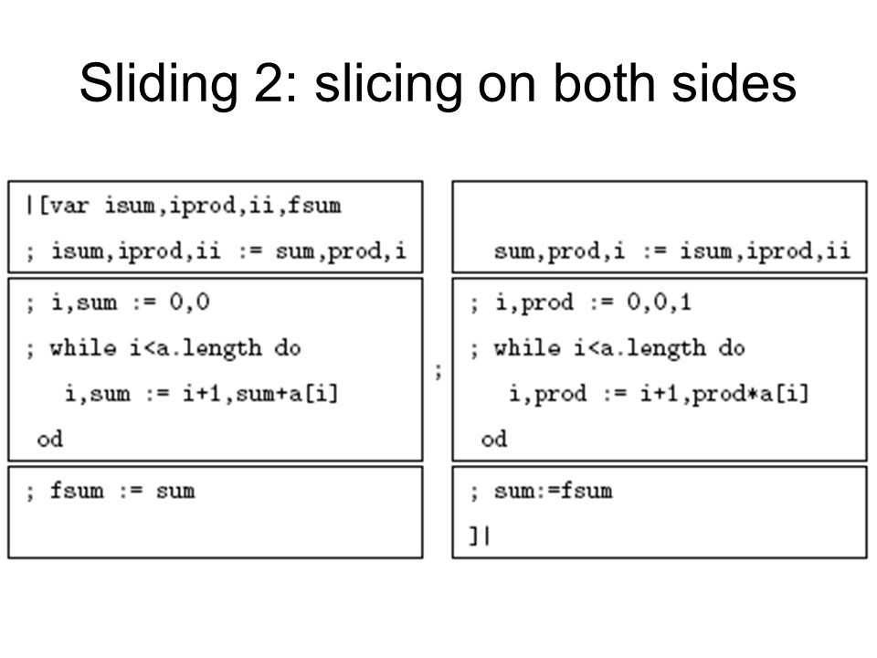 Sliding 2: slicing on both sides