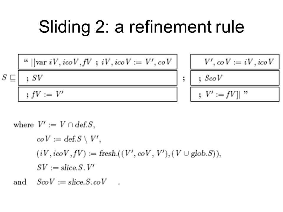 Sliding 2: a refinement rule
