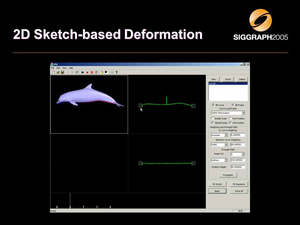 2D Sketch-based Deformation