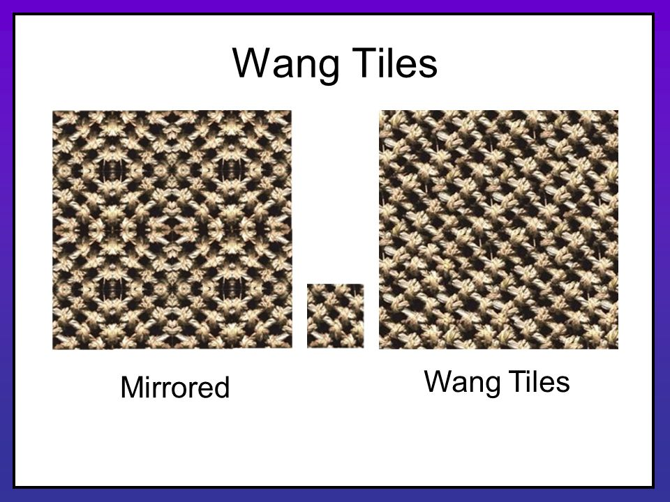 Wang Tiles Mirrored Wang Tiles