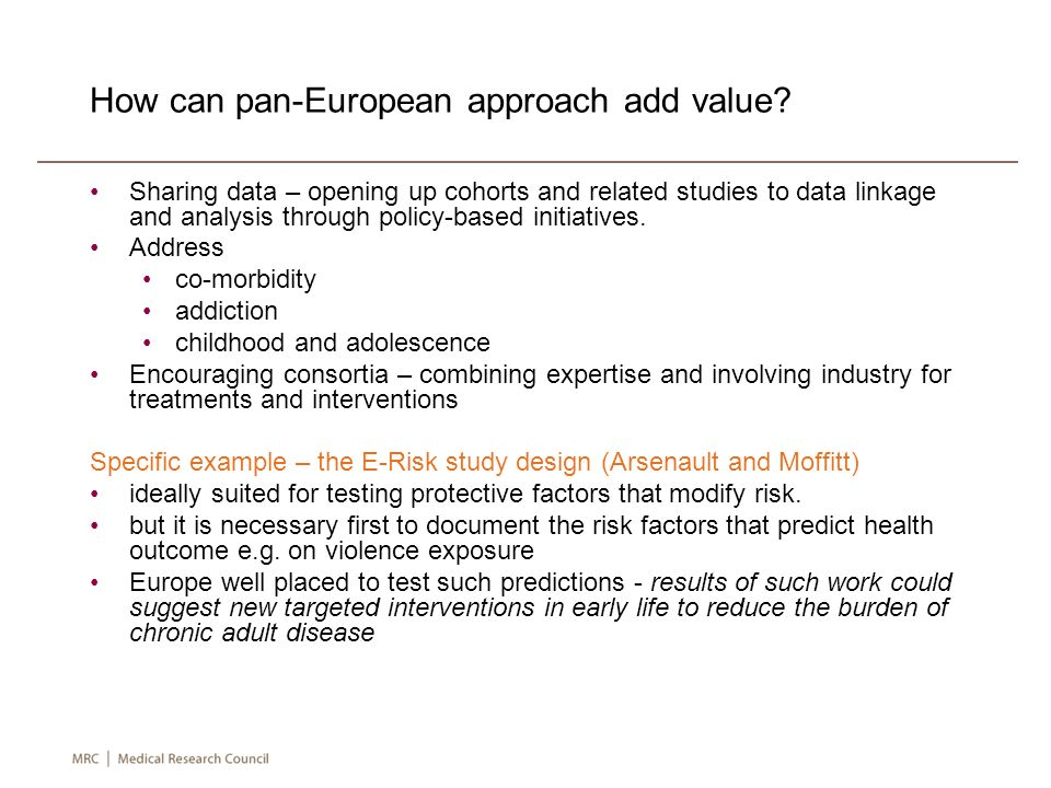 How can pan-European approach add value.