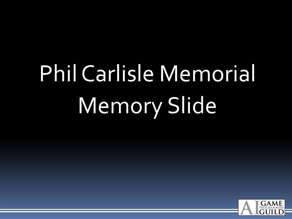 Phil Carlisle Memorial Memory Slide