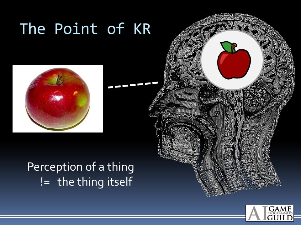 The Point of KR Perception of a thing != the thing itself