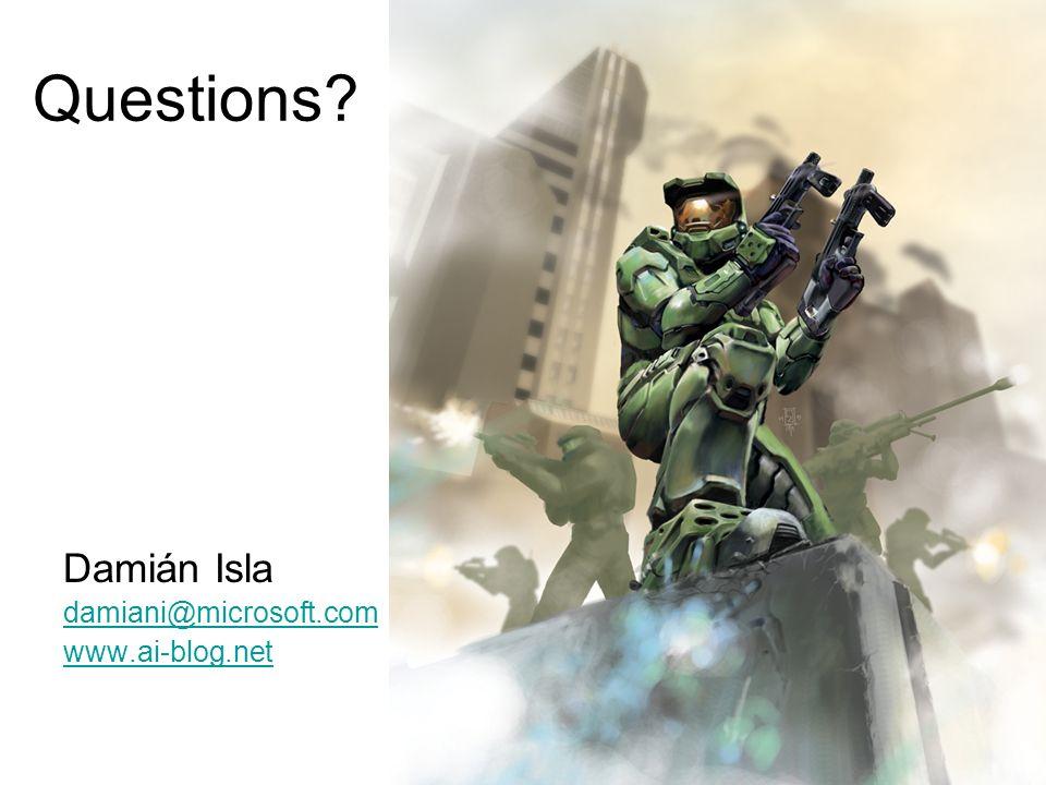 Damián Isla damiani@microsoft.com www.ai-blog.net Questions?