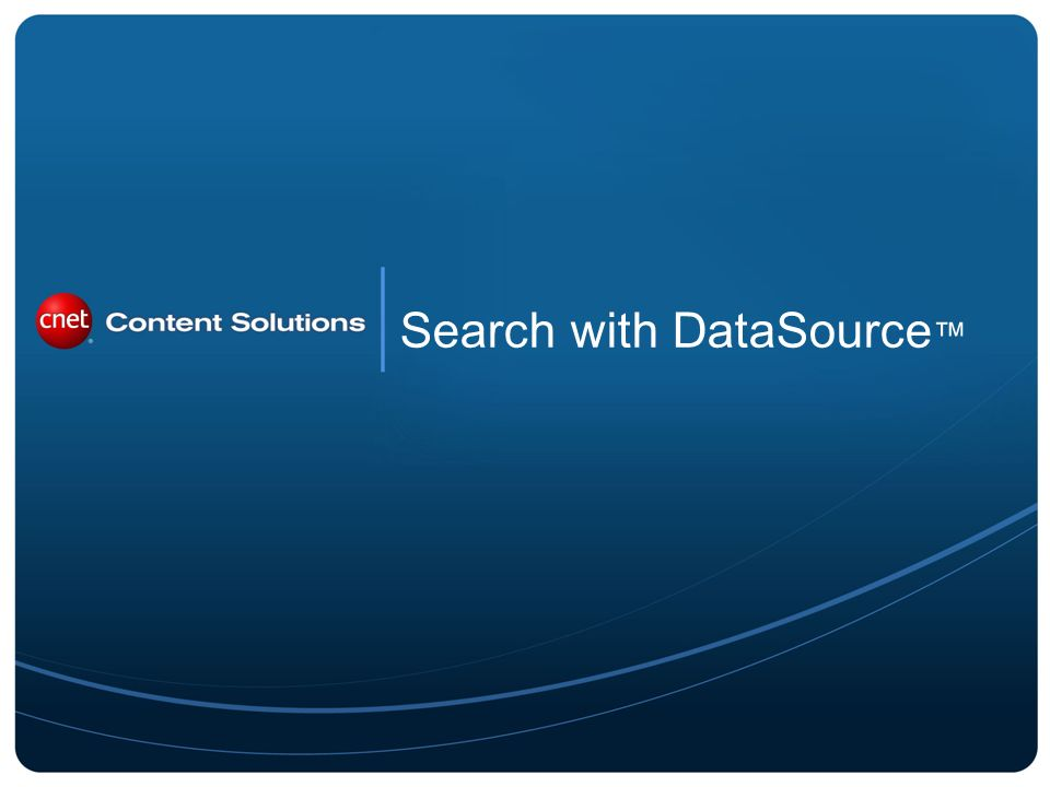 Search with DataSource