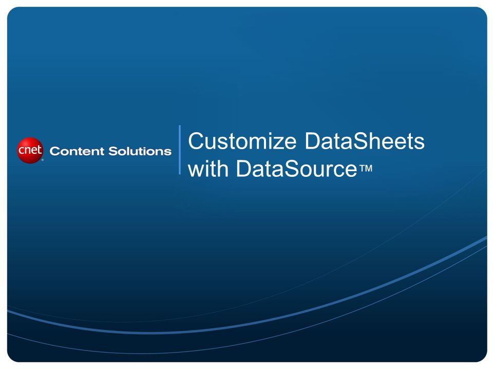 Customize DataSheets with DataSource