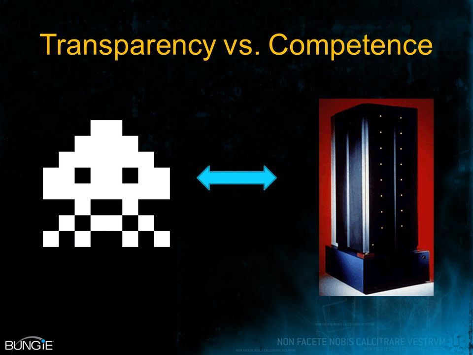 Transparency vs. Competence