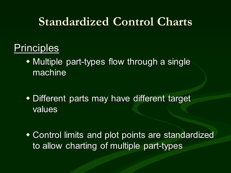 Principles Multiple part-types flow through a single machine Multiple part-types flow through a single machine Different parts may have different targ