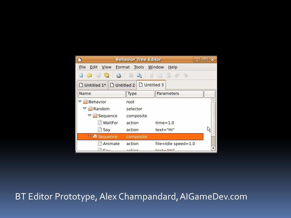 BT Editor Prototype, Alex Champandard, AIGameDev.com