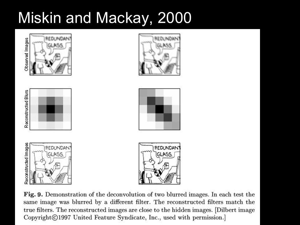 Miskin and Mackay, 2000