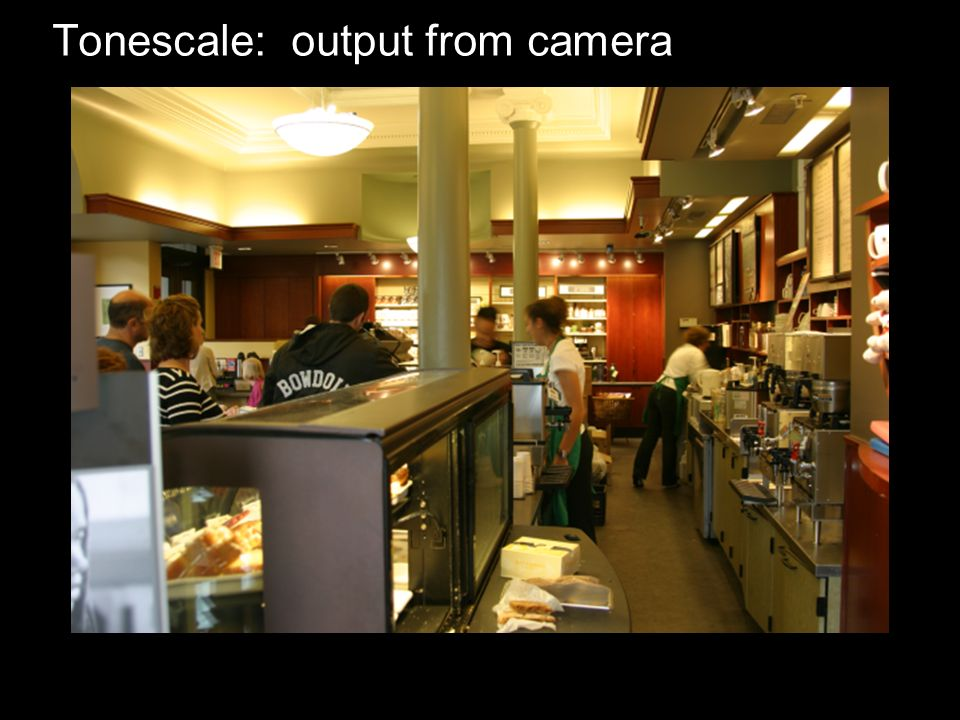 Tonescale: output from camera
