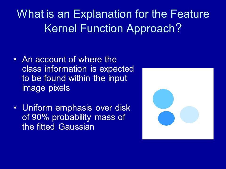 What is an Explanation for the Feature Kernel Function Approach ? An account of where the class information is expected to be found within the input i