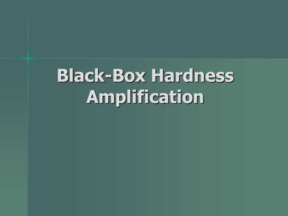 Black-Box Hardness Amplification