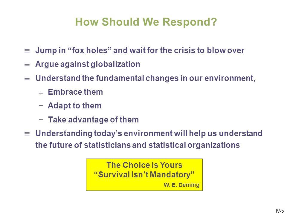 IV-5 How Should We Respond.