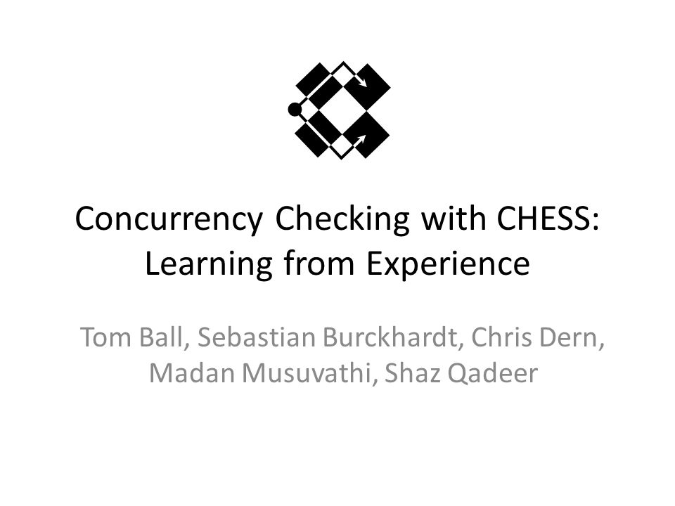 Concurrency Checking with CHESS: Learning from Experience Tom Ball, Sebastian Burckhardt, Chris Dern, Madan Musuvathi, Shaz Qadeer
